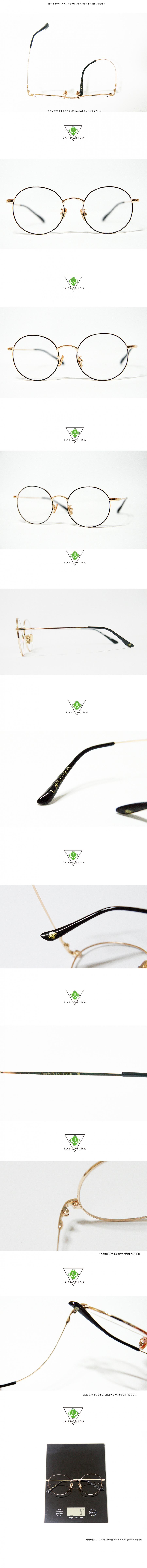라플로리다(LAFLORIDA) 캐릭 티타늄 블랙 골드 안경테