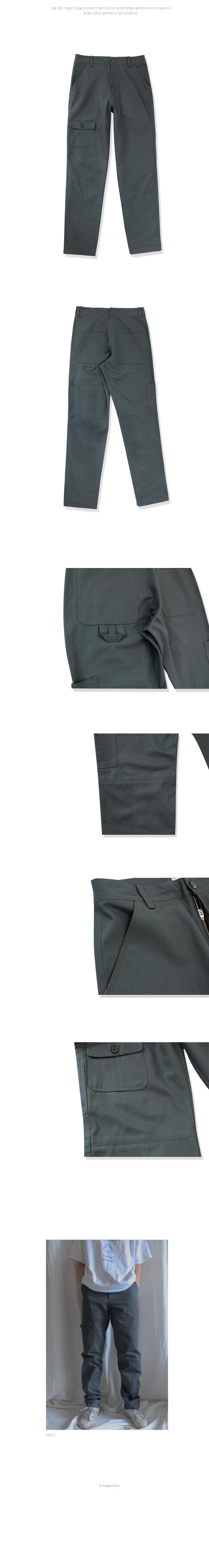 누아네임(NUANAME) 5P16 (regular tapered fit work pants g.g)