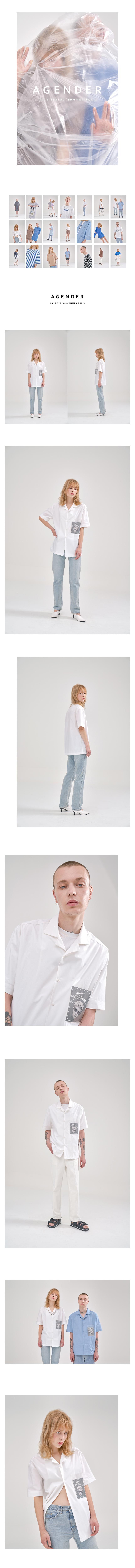 에이젠더(AGENDER) 인비즈블 포켓 셔츠 _화이트