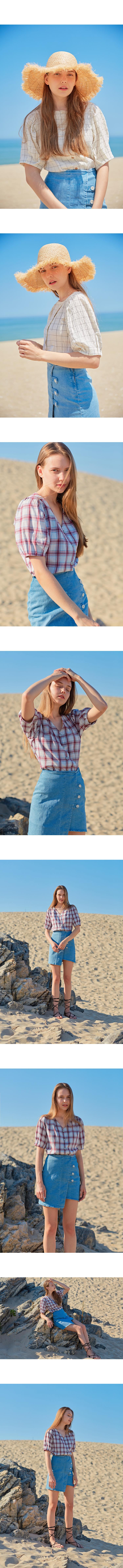 몬츠(MONTS) monts713 denim lap skirt