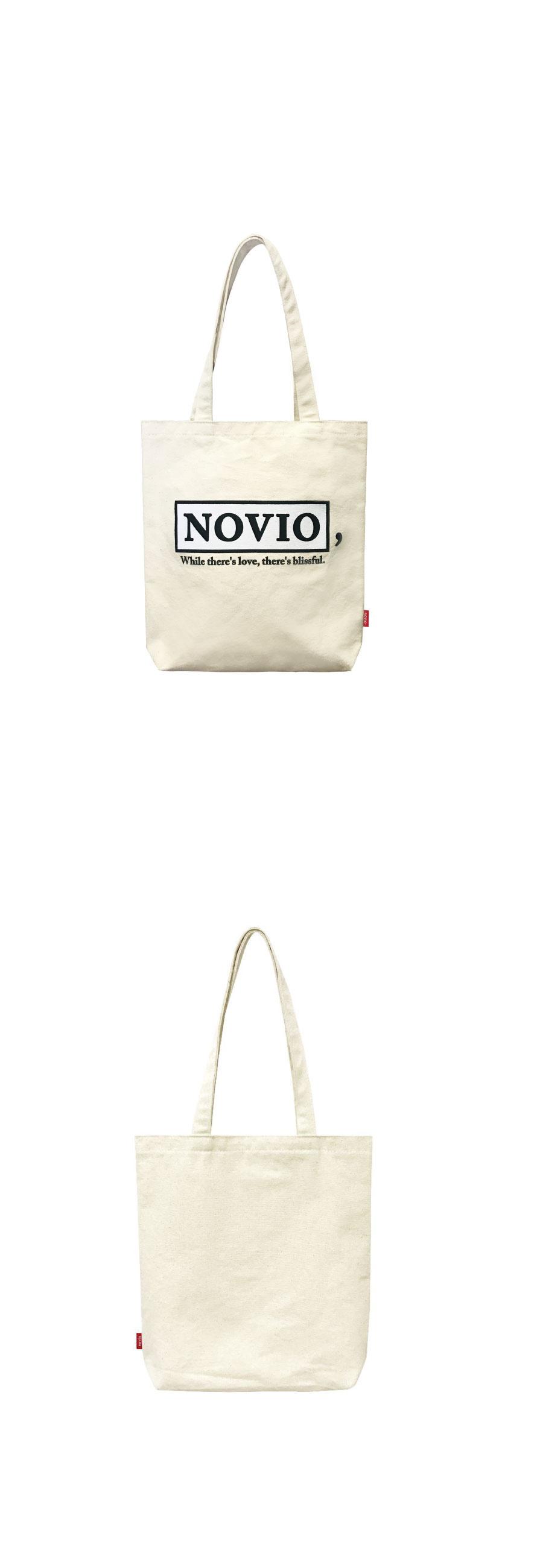 노비오(NOVIO) 시그니처 로고 에코백_블랙
