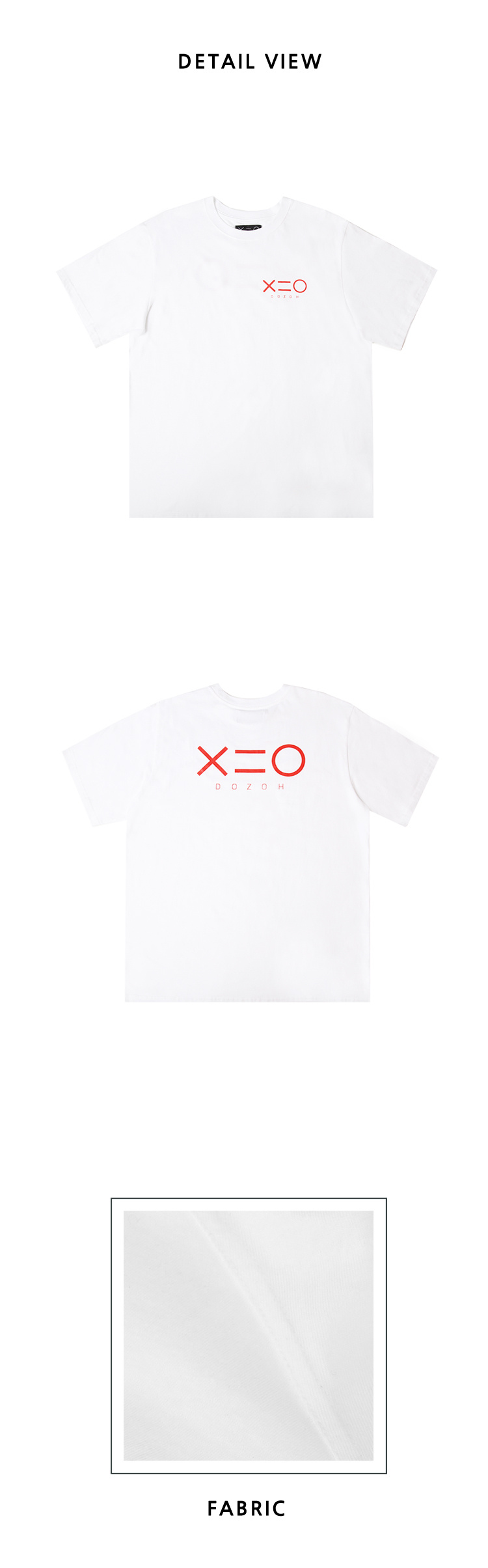 도조(DOZOH) WHITE DOZOH RED LOGO T-SHIRTS