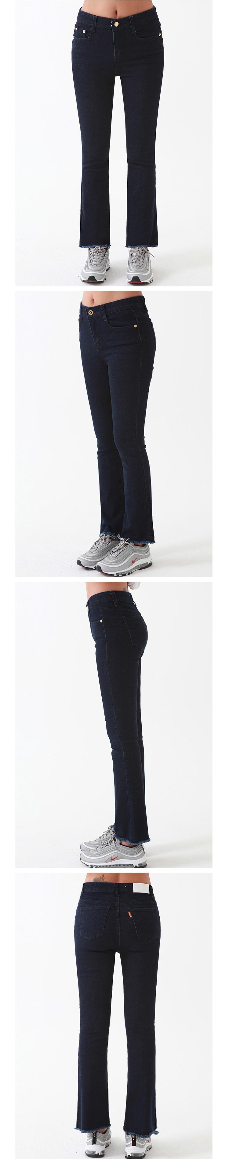 밀리언코르(MILLIONCOR) [Faina 7013] Medium Washed Jean