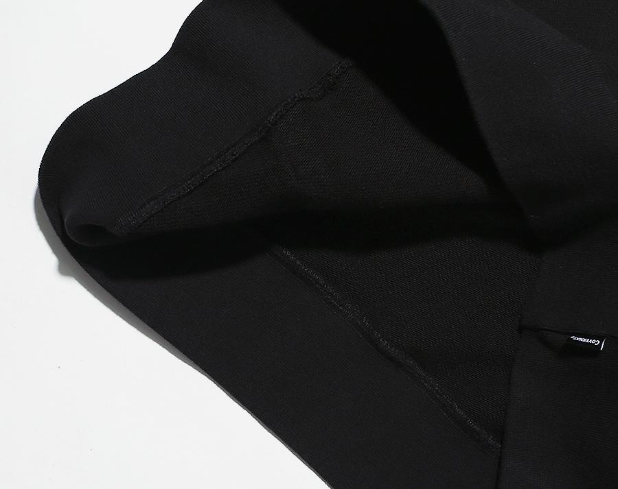 커버낫(COVERNAT) SMALL ARCH LOGO HOODIE BLACK