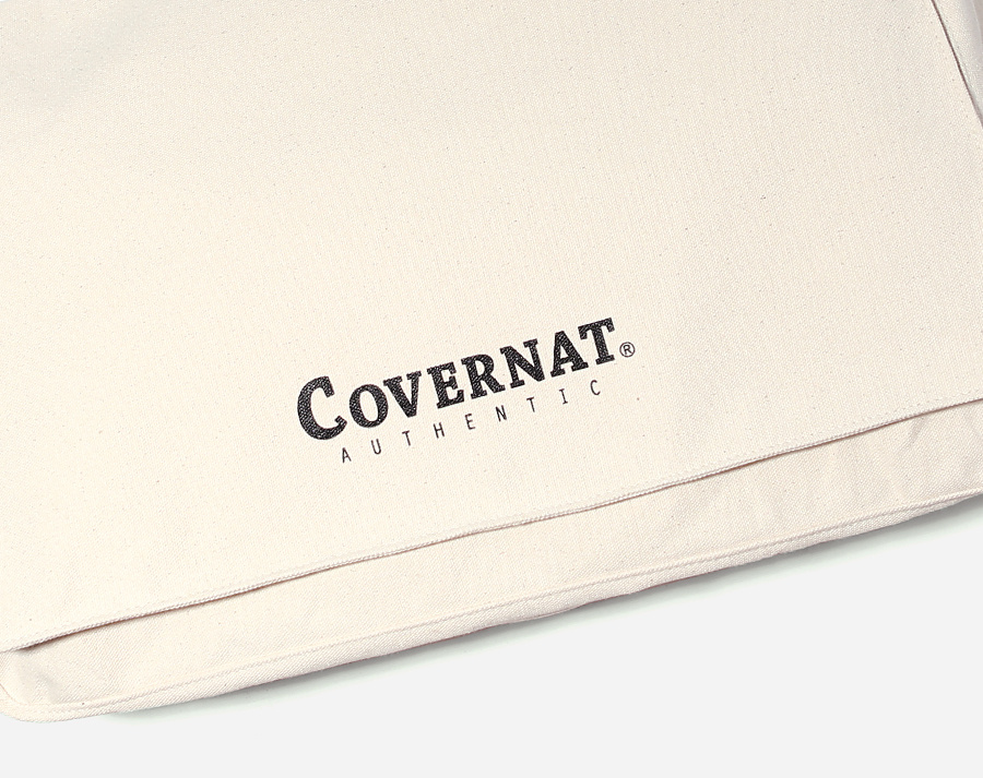 커버낫(COVERNAT) AUTHENTIC LOGO MAIL BAG IVORY