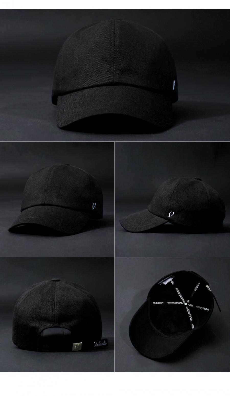 바이브레이트(VIBRATE) REAL COTTON BALL CAP (black)