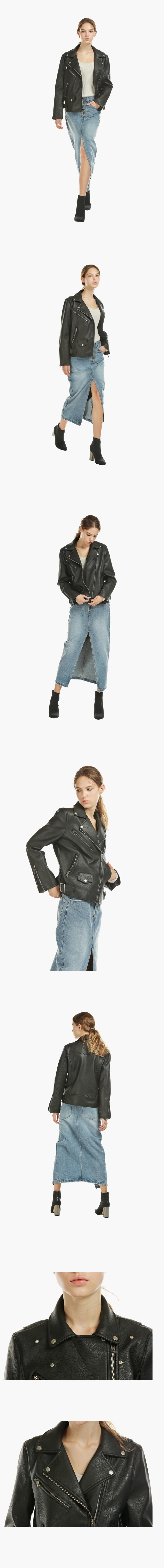 레이디 볼륨(LADY VOLUME) bijo leather jaket