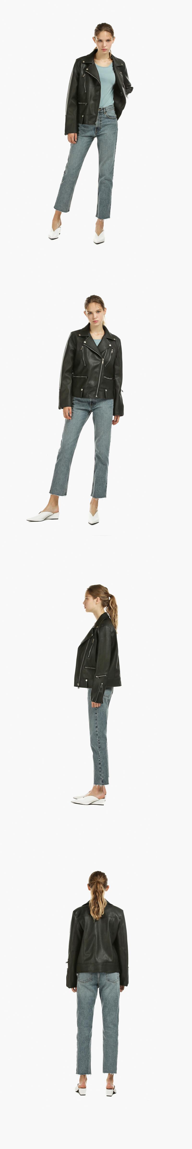 레이디 볼륨(LADY VOLUME) retail zipper leather jaket