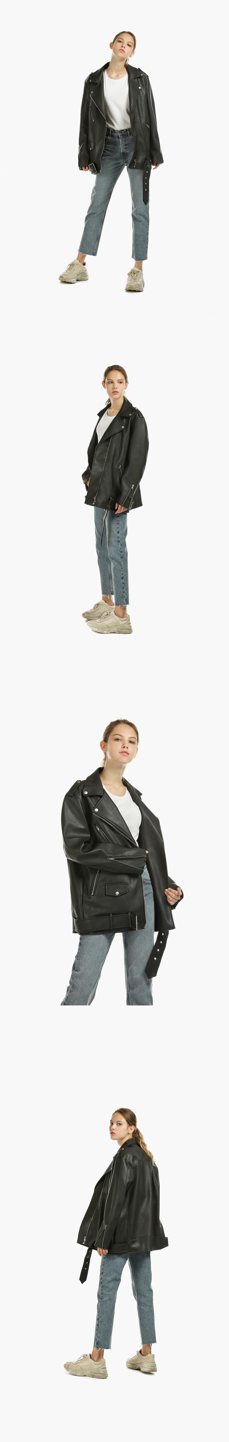 레이디 볼륨(LADY VOLUME) [남/여]overfit zipper leather jaket
