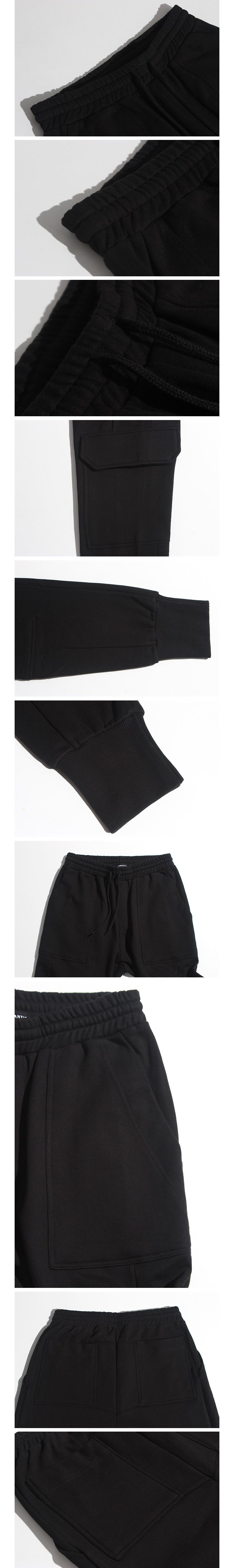 로맨틱 파이어리츠(ROMANTICPIRATES) CARGO JOGGER SWEAT PANT(BLACK)