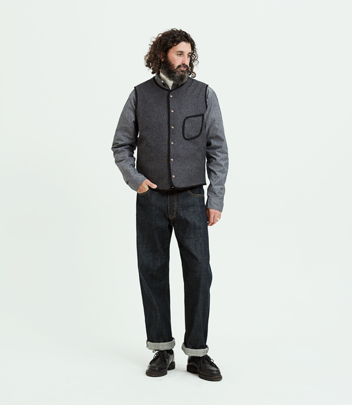 유니폼브릿지(UNIFORM BRIDGE) 18fw chambray shirts grey