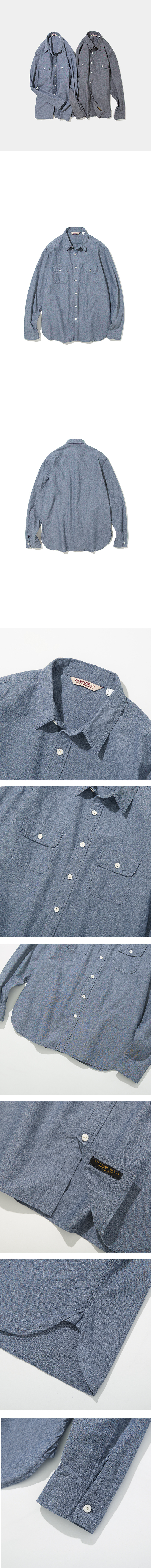 유니폼브릿지(UNIFORM BRIDGE) 18fw chambray shirts navy