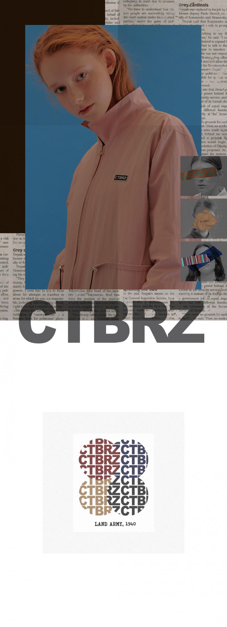 시티브리즈(CITY BREEZE) (CTA3) 베이직 로고 점퍼 핑크