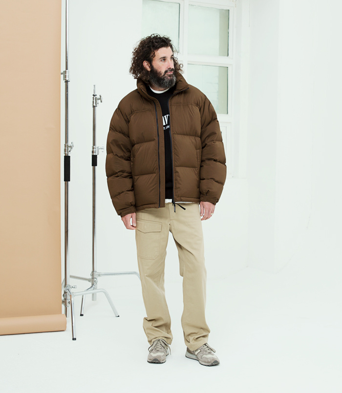 유니폼브릿지(UNIFORM BRIDGE) 18fw light down parka brown