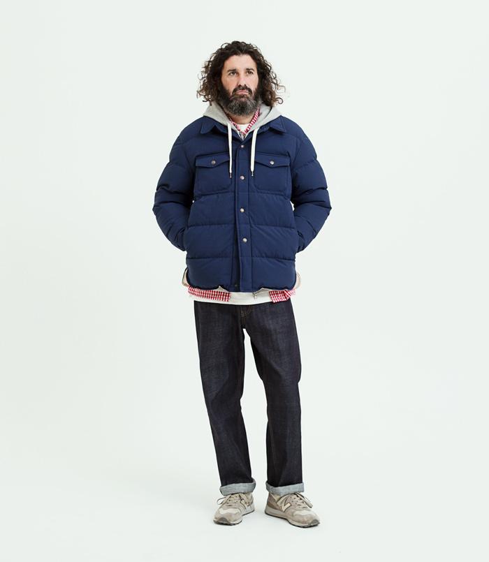유니폼브릿지(UNIFORM BRIDGE) 18fw down shirts jacket khaki