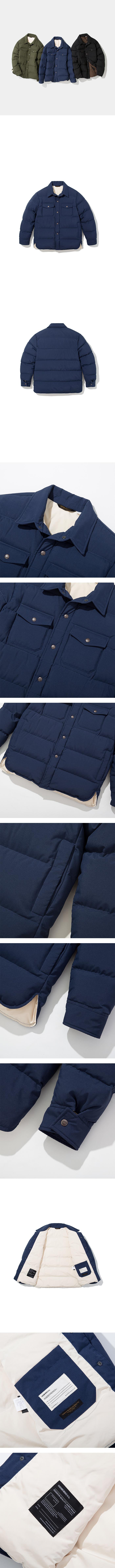 유니폼브릿지(UNIFORM BRIDGE) 18fw down shirts jacket navy