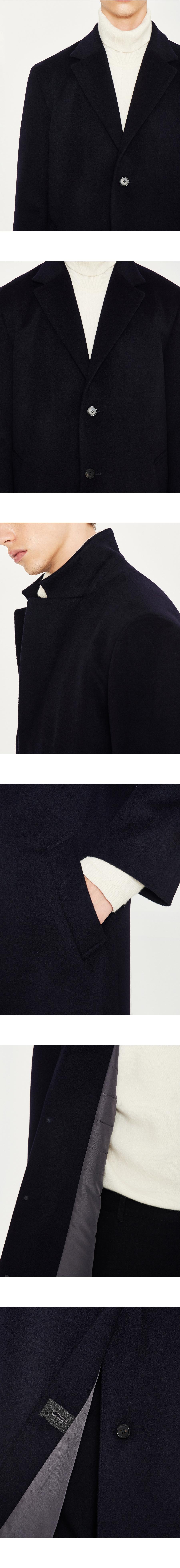 로파이(LOFI) 캐시미어 싱글코트 (네이비)