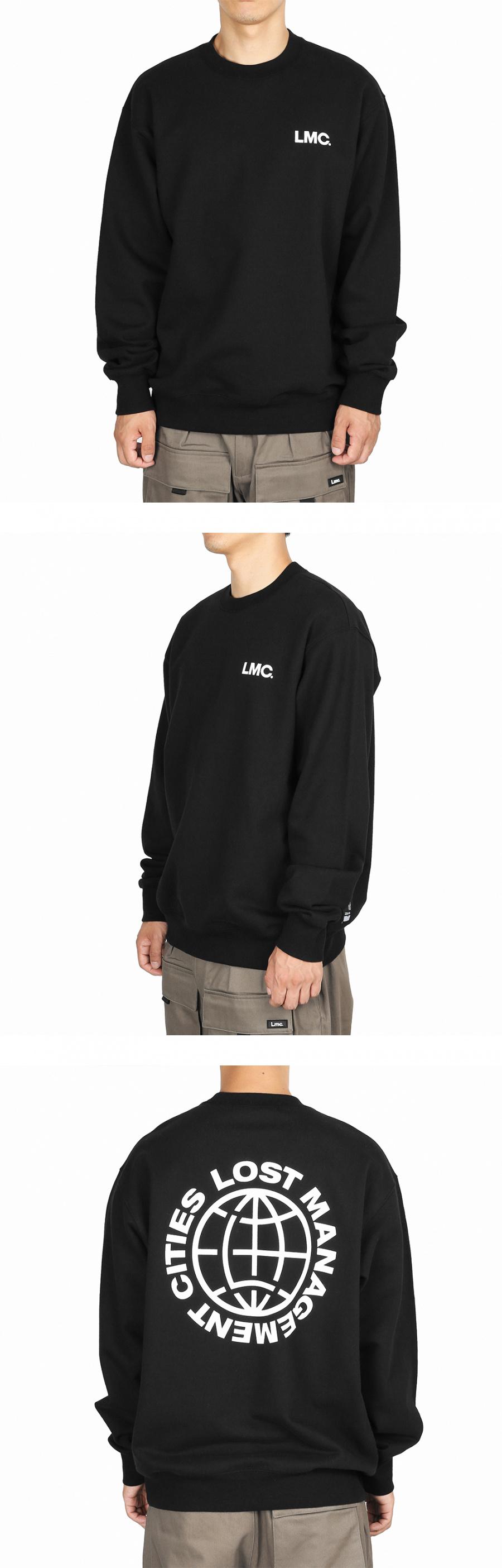 엘엠씨(LMC) LMC WHEEL LOGO SWEATSHIRT black