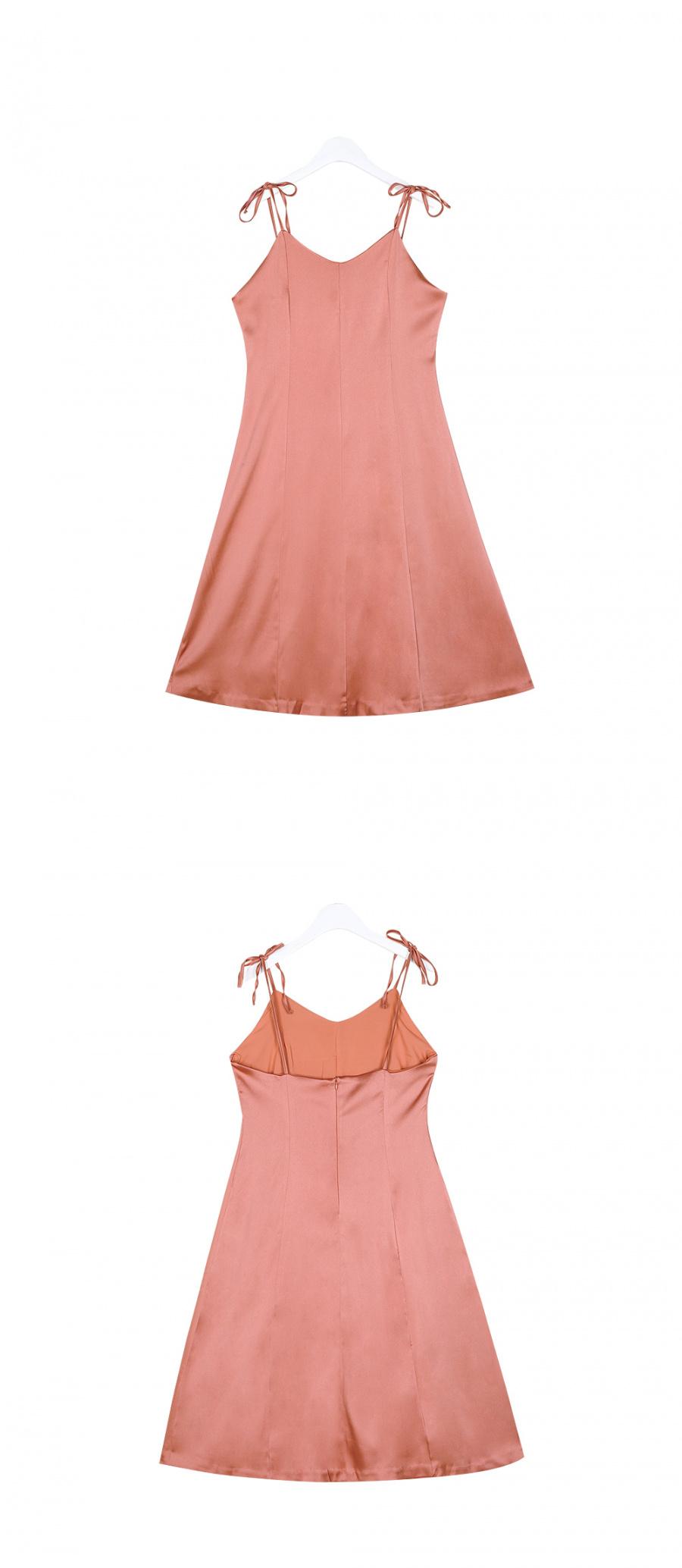 누이슈(NUISSUE) SILKY SLEEVELESS DRESS ROSE PINK