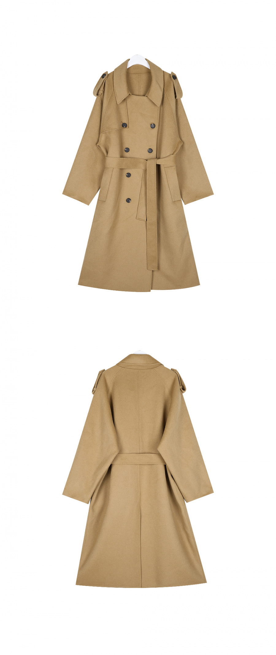 누이슈(NUISSUE) HANDMADE WOOL TRENCH COAT CAMEL