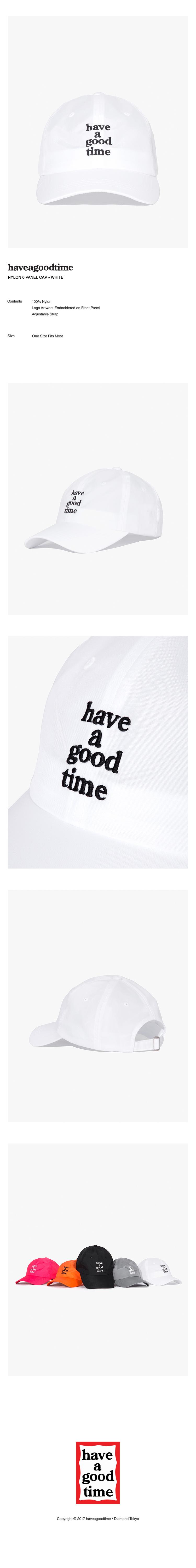 해브 어 굿 타임(HAVE A GOOD TIME) NYLON 6 PANEL CAP - WHITE