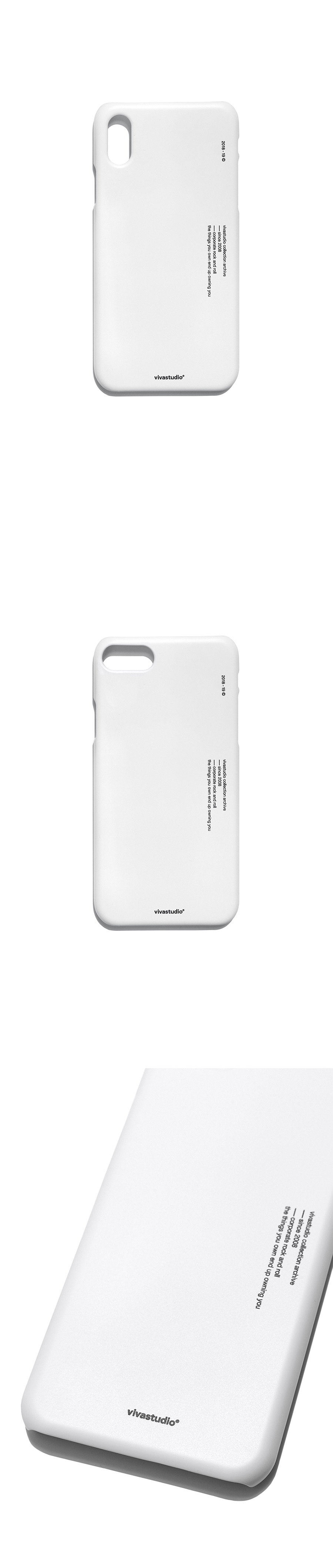 비바스튜디오(VIVASTUDIO) TYPO IPHONE CASE HA [WHITE]