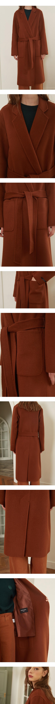 룩캐스트(LOOKAST) BROWN NOTCHED LAPEL HANDMADE COAT