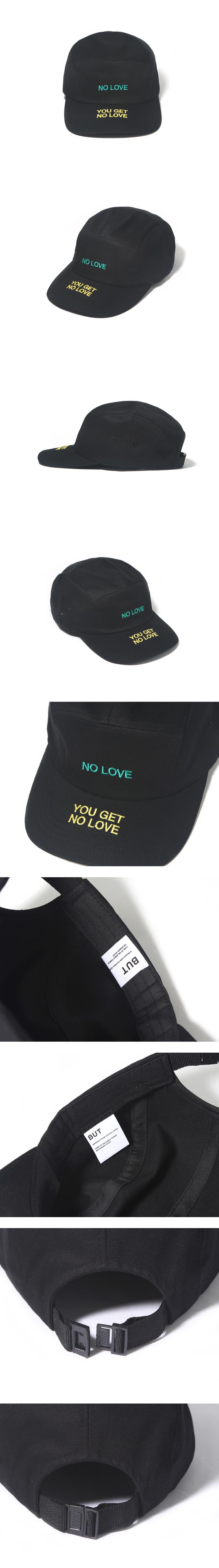 벗딥(BUTDEEP) NO LOVE CAMP CAP-BLACK
