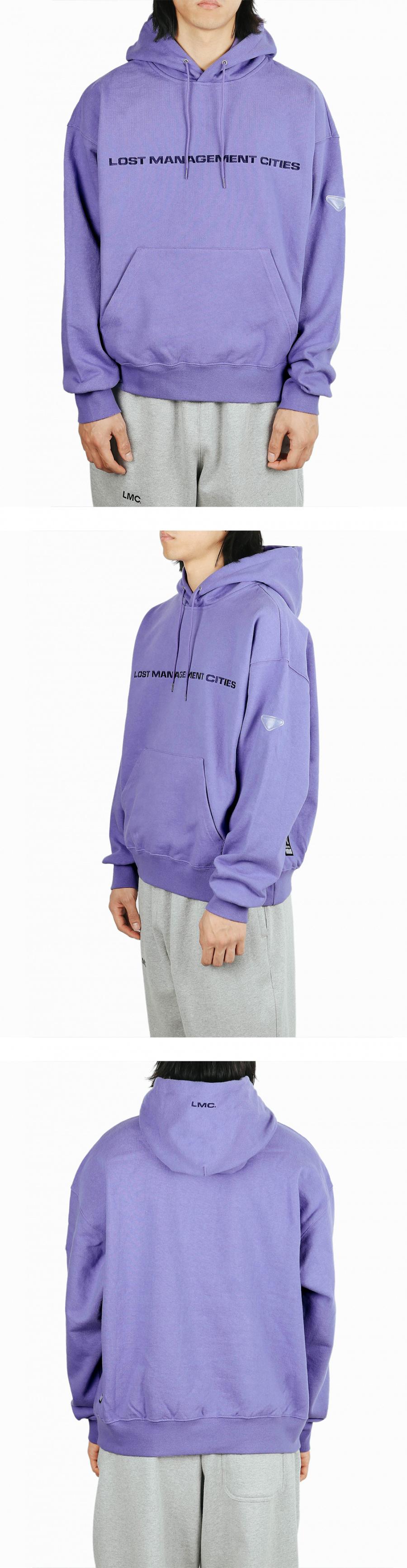 엘엠씨(LMC) LMC CLEAR PATCH OVERSIZED HOODIE purple