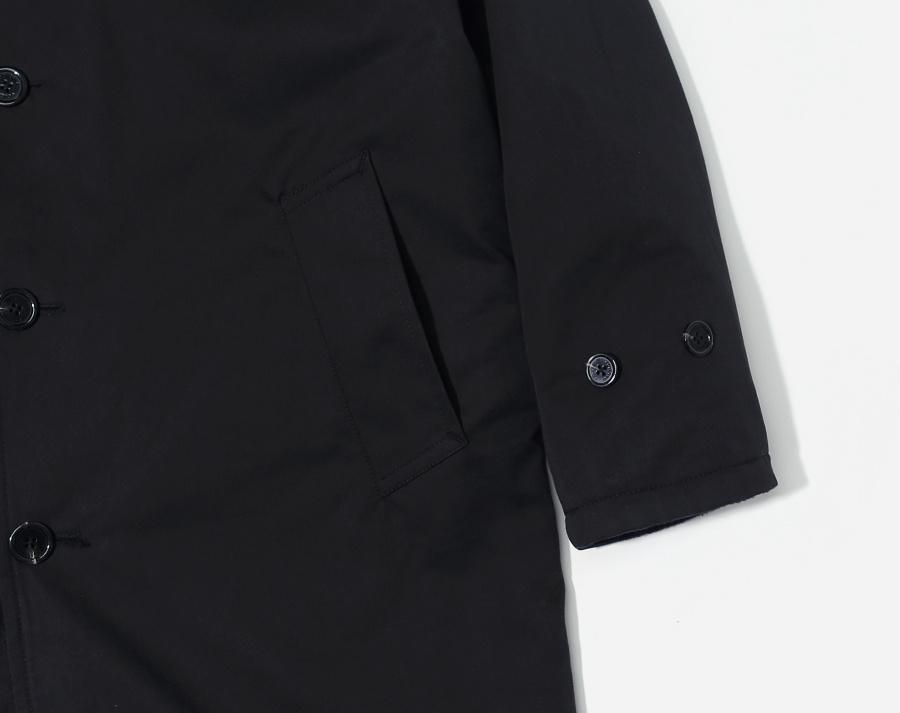 커버낫(COVERNAT) WOOL REVERSIBLE COAT BLACK