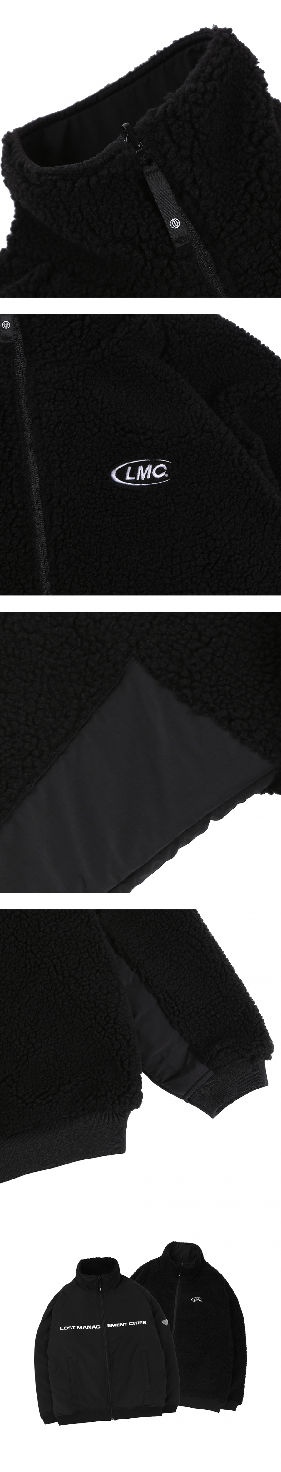 엘엠씨(LMC) LMC BOA FLEECE REVERSIBLE FULL ZIP JACKET black