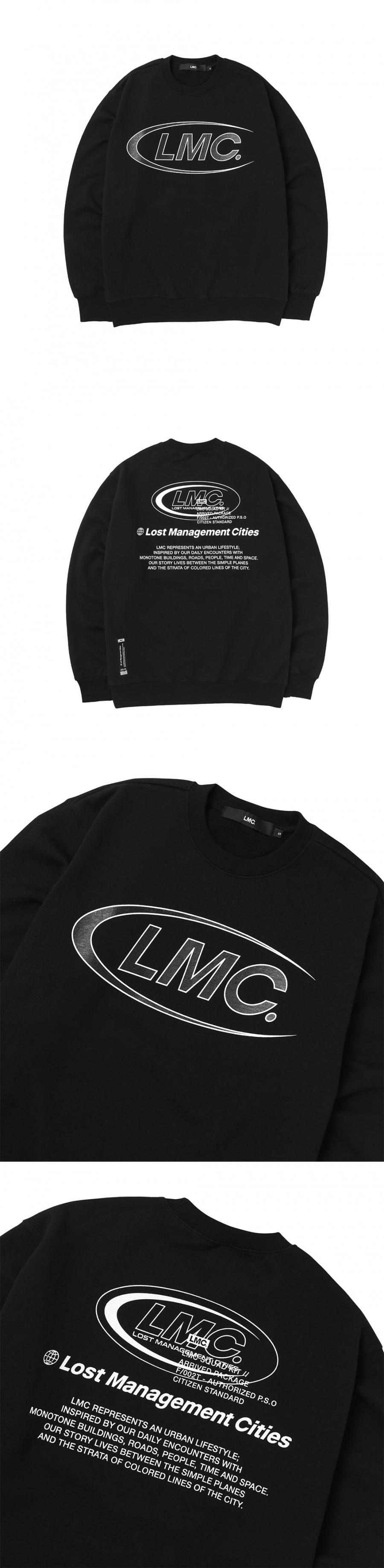 엘엠씨(LMC) LMC CO LOGO OVERLAP SWEATSHIRT black