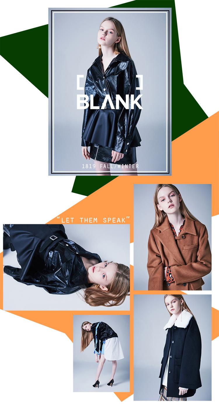블랭크(BLANK) HALF HALF COAT-BR