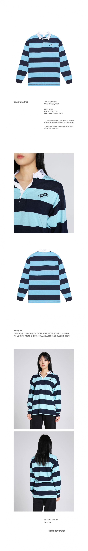 디스이즈네버댓(THISISNEVERTHAT) Striped Rugby Shirt Sky Blue