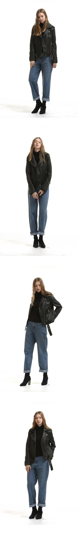 레이디 볼륨(LADY VOLUME) belt leather jaket