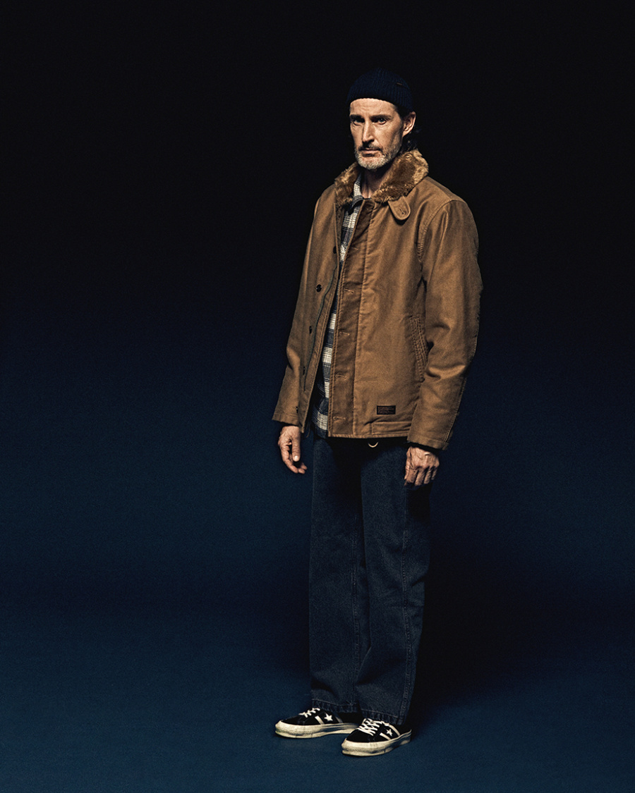 에스피오나지(ESPIONAGE) Lander N-1 Deck Jacket Tan