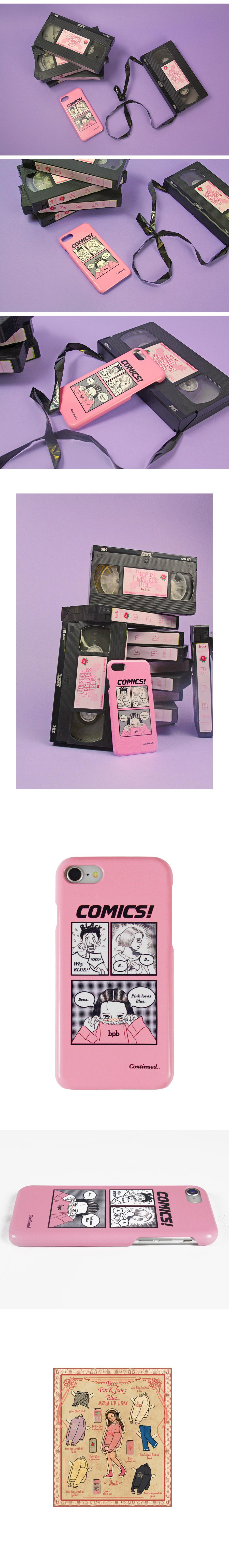 비피비(BPB) 코믹스 아이폰 케이스_핑크