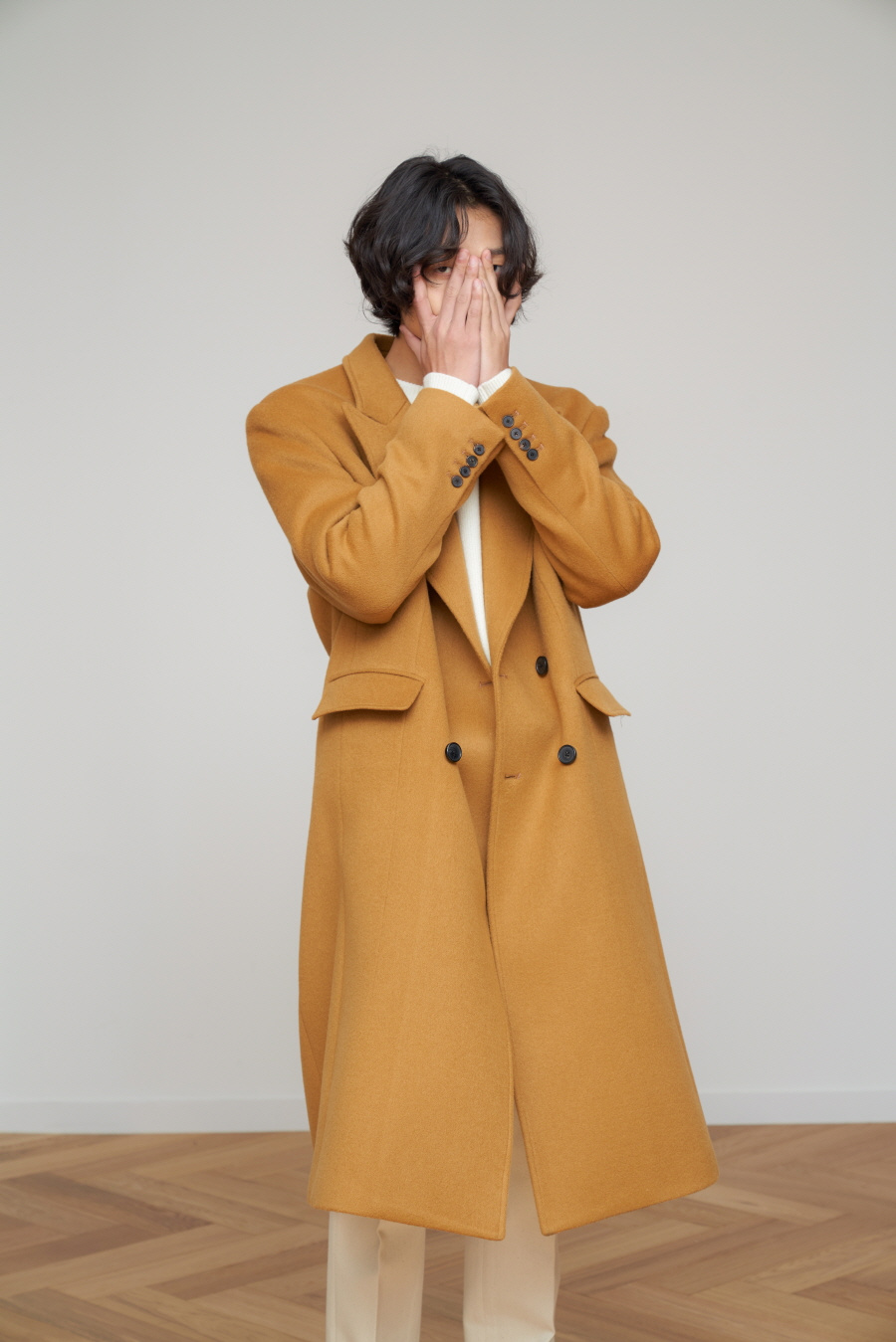 에스티유(STU) 더블 코트 카멜