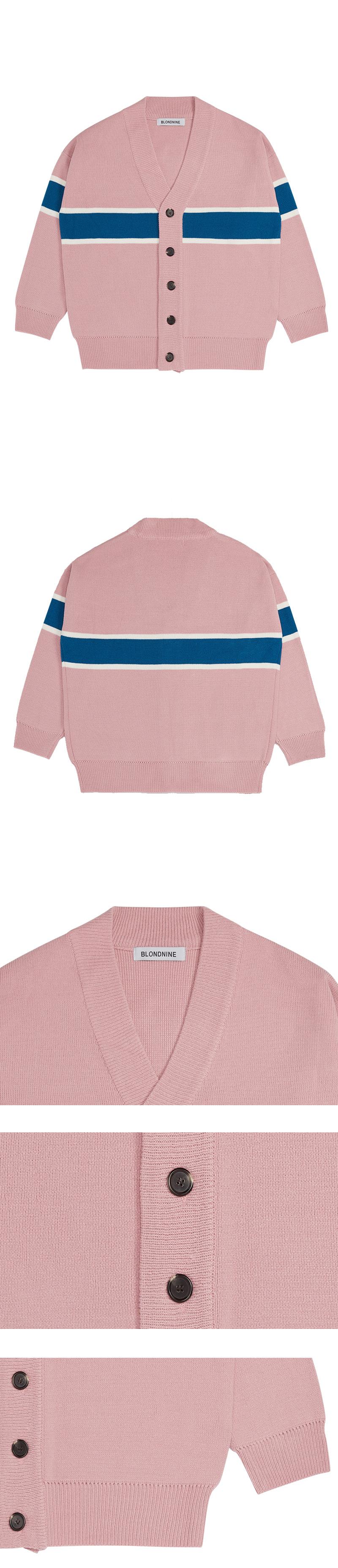 블론드나인(BLOND9) Point color Knit Cardigan