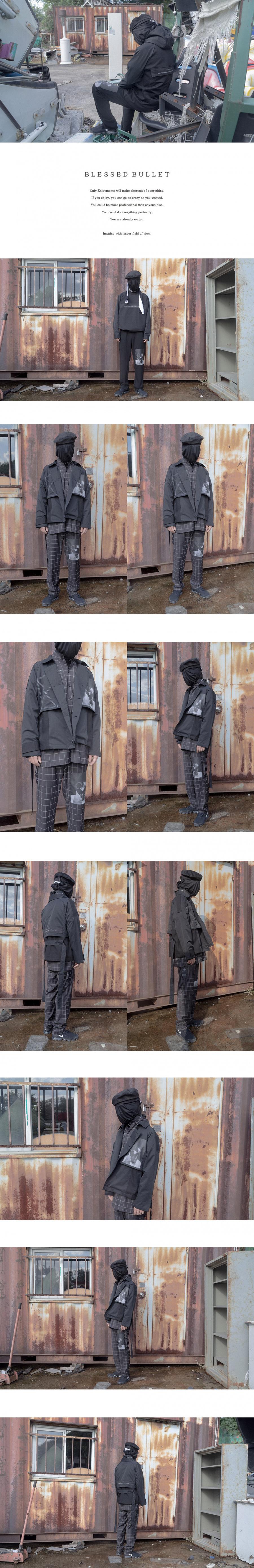블레스드 뷸렛(BLESSED BULLET) Technical X windowpane pants