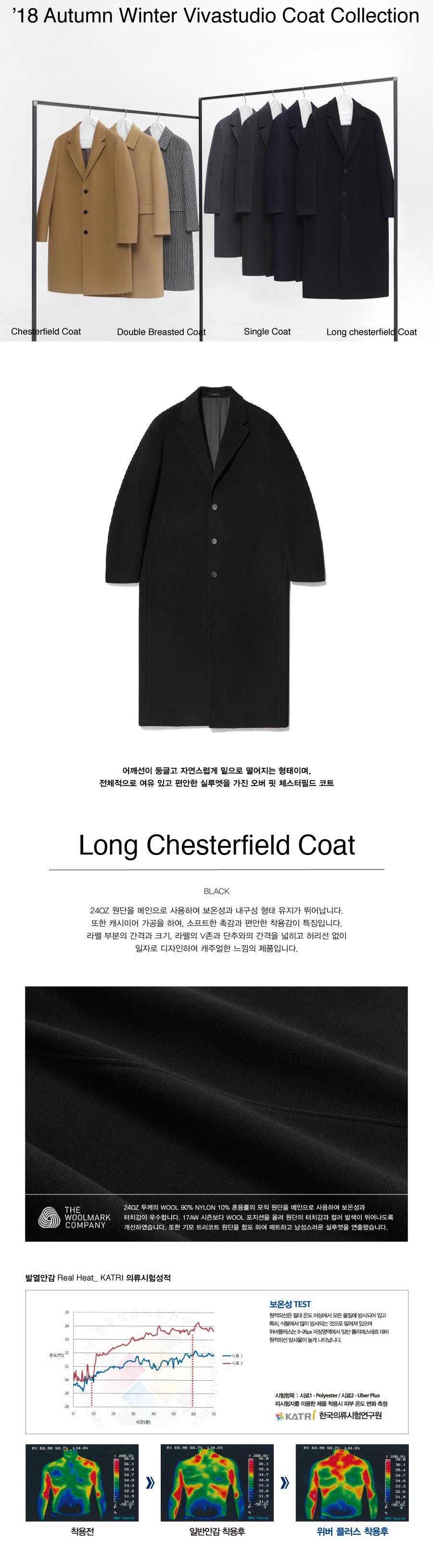 비바스튜디오(VIVASTUDIO) LONG CHESTERFIELD COAT HA [BLACK]