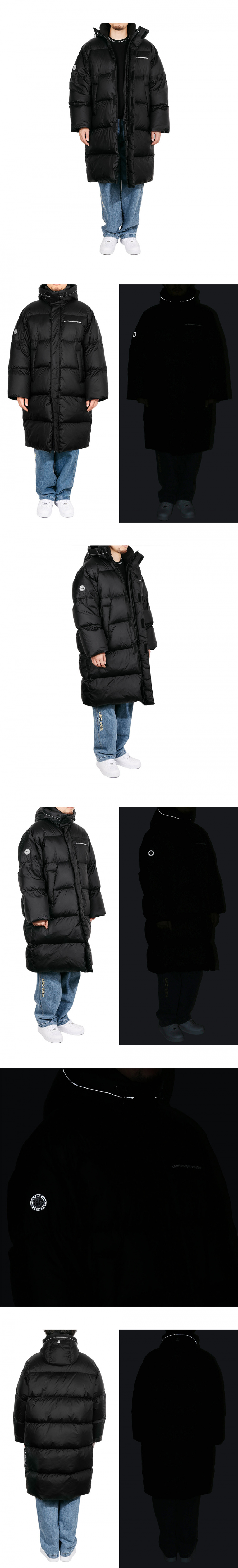 엘엠씨(LMC) LMC OVERSIZED LONG PUFFER COAT black