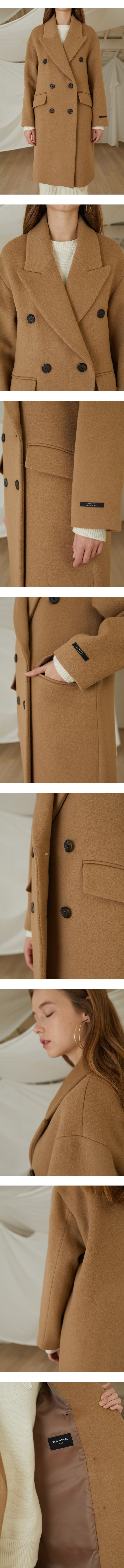 룩캐스트(LOOKAST) BEIGE BASIC OVERFIT WOOL DOUBLE COAT