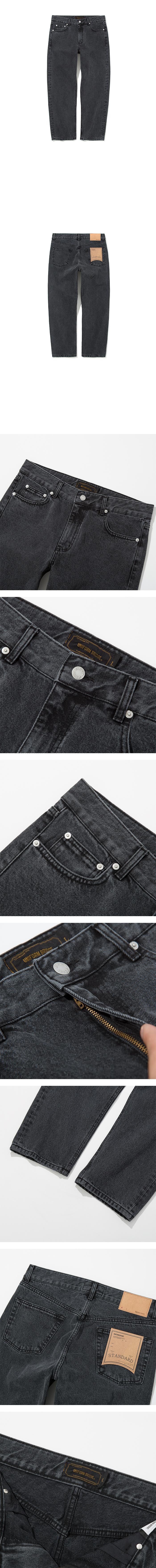 유니폼브릿지(UNIFORM BRIDGE) washing crop denim pants black