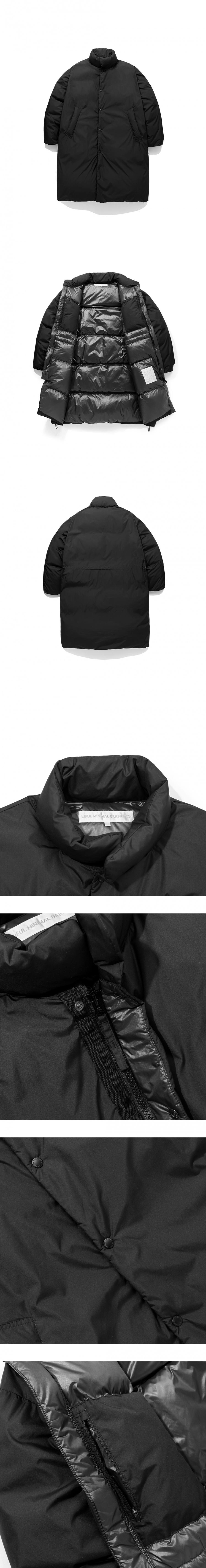 라이풀(LIFUL) HEAVY LONG DOWN COAT black