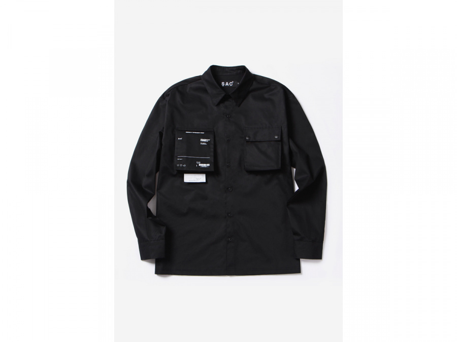 색(SAC) 2POCKET UNIT SHIRTS BLACK