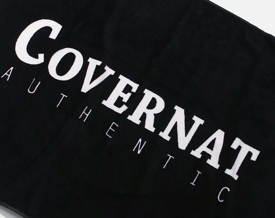 커버낫(COVERNAT) AUTHENTIC LOGO BLANKET BLACK