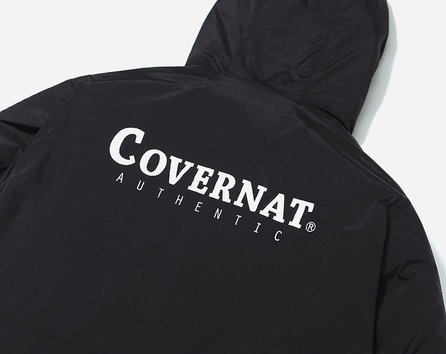 커버낫(COVERNAT) REVERSIBLE FLEECE WARM UP JACKET IV/BK