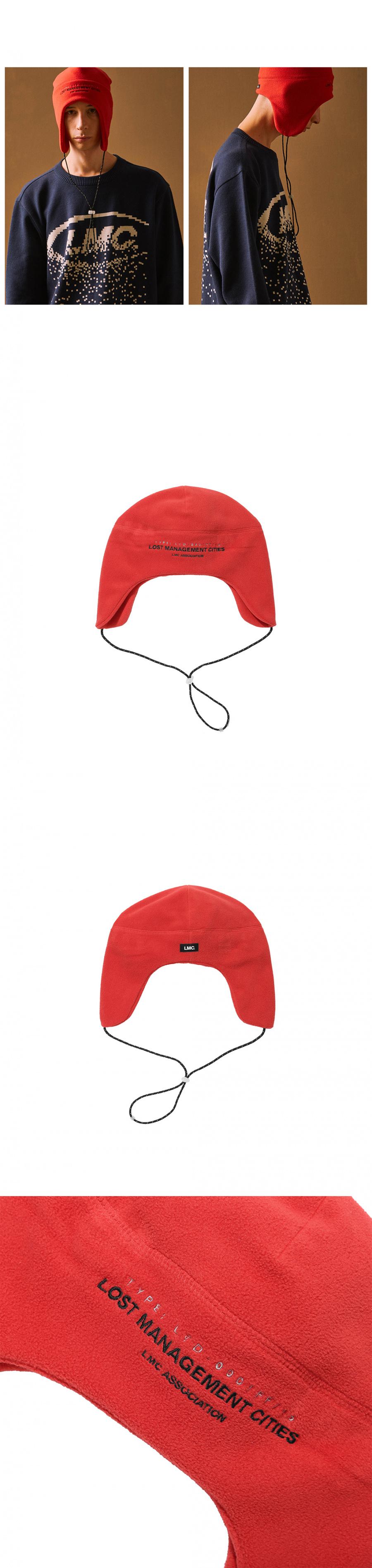 엘엠씨(LMC) LMC FLEECE EARFLAP BEANIE red