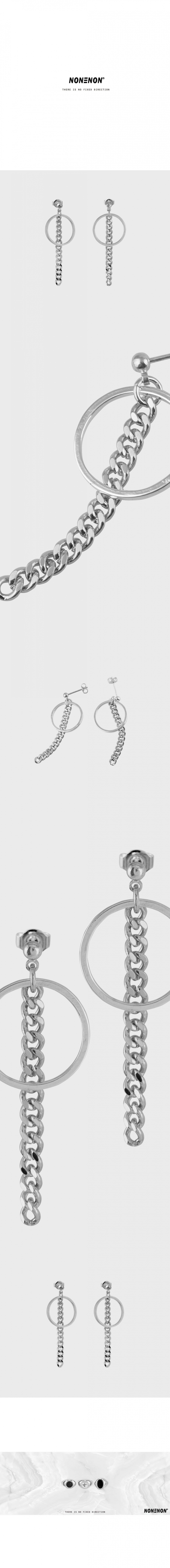 논논(NONENON) RING CHAIN EAR